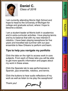 Change the face of assessment creative educator sample portfolio intro page altavistaventures Images