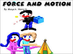 screenshot from force and motion project