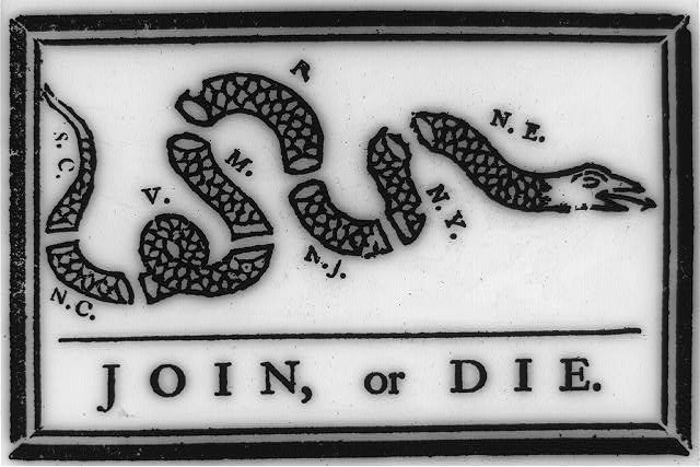 Ben Franklin's Join or Die cartoon