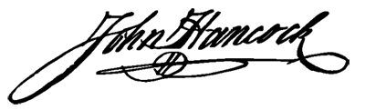 image of John Hancock's signature
