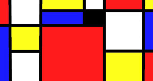 small portion of student-created Mondrian Art