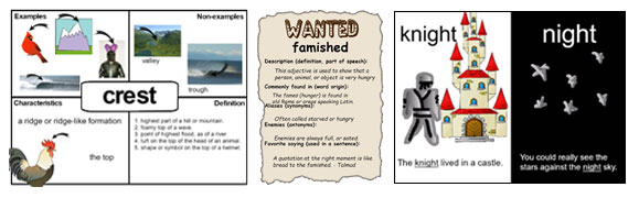 sample images of vocabulary projects