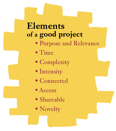 list of 8 elements that make a great project
